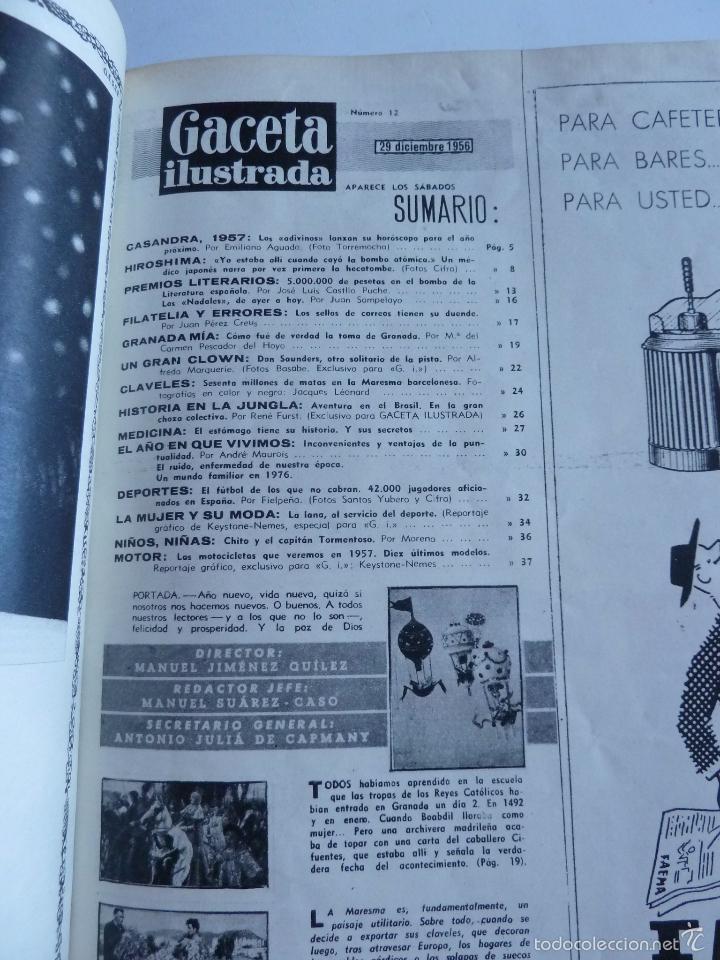 Coleccionismo de Revista Gaceta Ilustrada: REVISTA LA GACETA ILUSTRADA NºS 1 A 20 ENCUADERNADAS EN 1 TOMO. OCTUBRE 1956 A FEB 1957. GRAN FORMAT - Foto 24 - 60804739