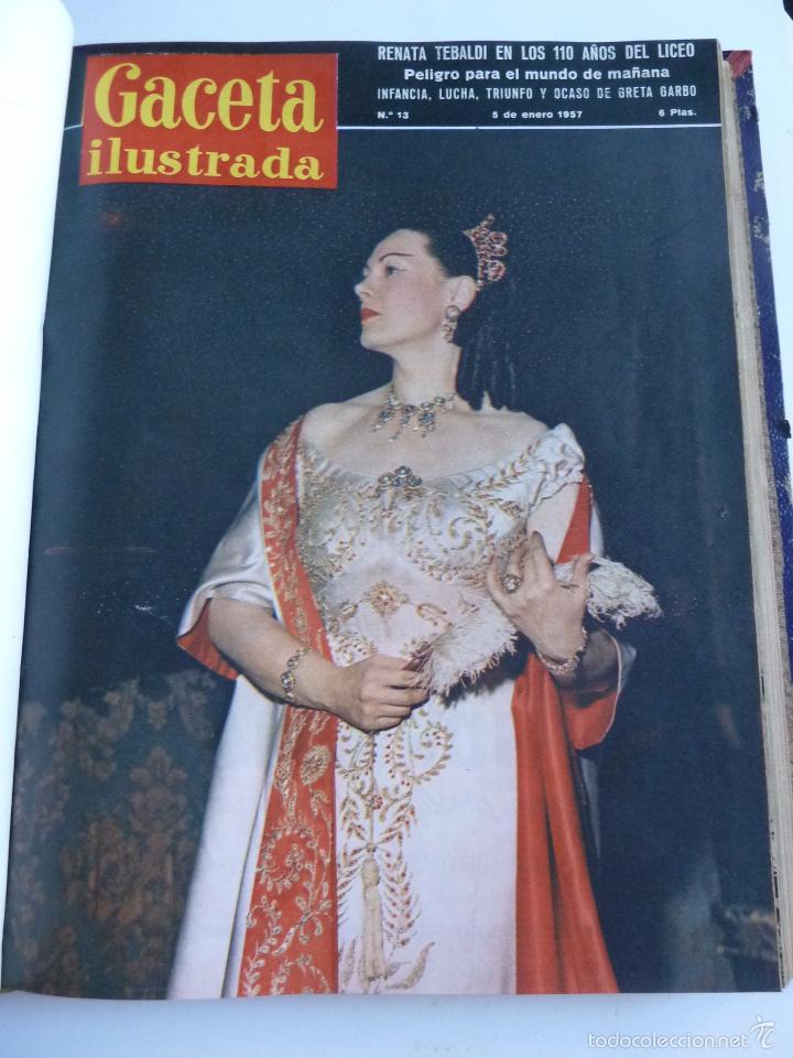 Coleccionismo de Revista Gaceta Ilustrada: REVISTA LA GACETA ILUSTRADA NºS 1 A 20 ENCUADERNADAS EN 1 TOMO. OCTUBRE 1956 A FEB 1957. GRAN FORMAT - Foto 25 - 60804739