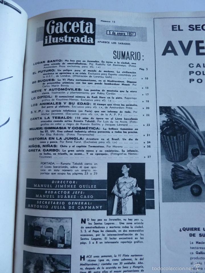 Coleccionismo de Revista Gaceta Ilustrada: REVISTA LA GACETA ILUSTRADA NºS 1 A 20 ENCUADERNADAS EN 1 TOMO. OCTUBRE 1956 A FEB 1957. GRAN FORMAT - Foto 26 - 60804739