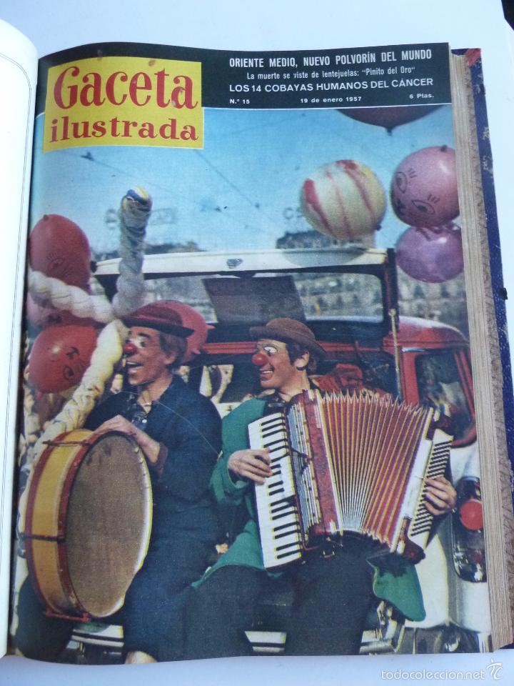 Coleccionismo de Revista Gaceta Ilustrada: REVISTA LA GACETA ILUSTRADA NºS 1 A 20 ENCUADERNADAS EN 1 TOMO. OCTUBRE 1956 A FEB 1957. GRAN FORMAT - Foto 27 - 60804739