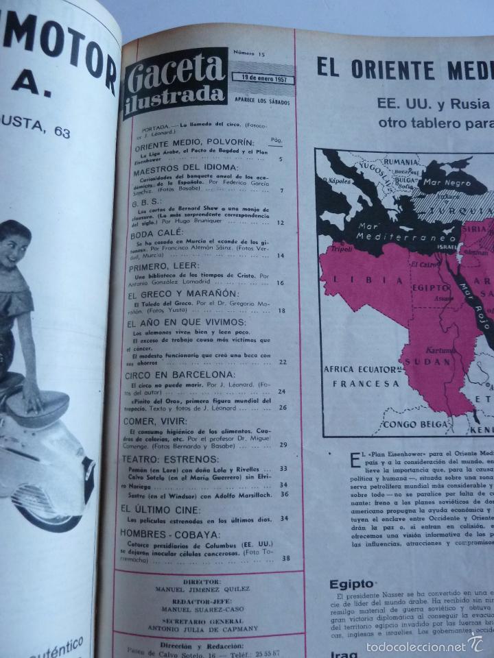 Coleccionismo de Revista Gaceta Ilustrada: REVISTA LA GACETA ILUSTRADA NºS 1 A 20 ENCUADERNADAS EN 1 TOMO. OCTUBRE 1956 A FEB 1957. GRAN FORMAT - Foto 28 - 60804739