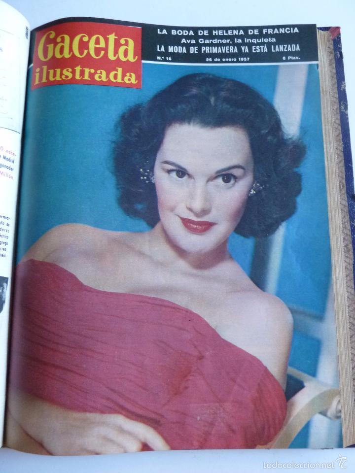 Coleccionismo de Revista Gaceta Ilustrada: REVISTA LA GACETA ILUSTRADA NºS 1 A 20 ENCUADERNADAS EN 1 TOMO. OCTUBRE 1956 A FEB 1957. GRAN FORMAT - Foto 29 - 60804739