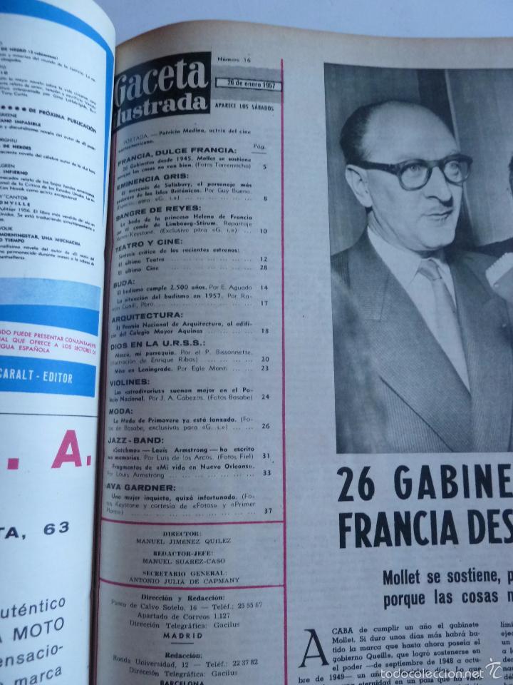Coleccionismo de Revista Gaceta Ilustrada: REVISTA LA GACETA ILUSTRADA NºS 1 A 20 ENCUADERNADAS EN 1 TOMO. OCTUBRE 1956 A FEB 1957. GRAN FORMAT - Foto 30 - 60804739