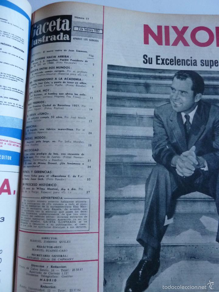 Coleccionismo de Revista Gaceta Ilustrada: REVISTA LA GACETA ILUSTRADA NºS 1 A 20 ENCUADERNADAS EN 1 TOMO. OCTUBRE 1956 A FEB 1957. GRAN FORMAT - Foto 32 - 60804739