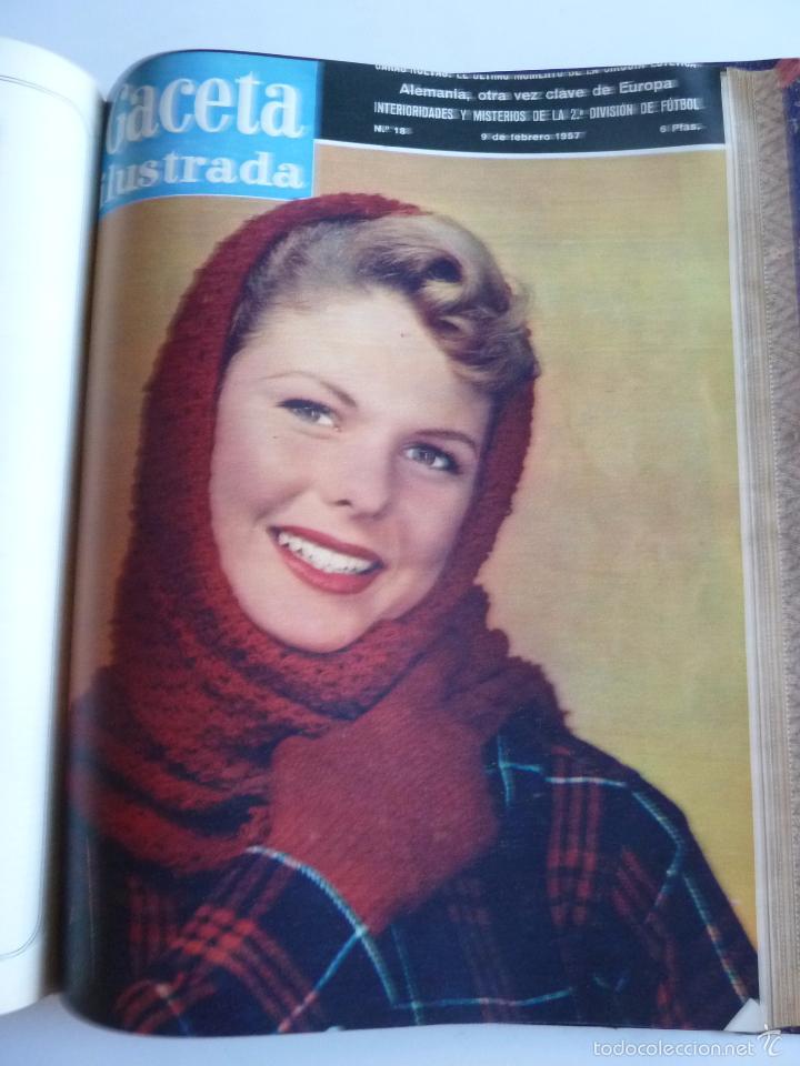 Coleccionismo de Revista Gaceta Ilustrada: REVISTA LA GACETA ILUSTRADA NºS 1 A 20 ENCUADERNADAS EN 1 TOMO. OCTUBRE 1956 A FEB 1957. GRAN FORMAT - Foto 33 - 60804739