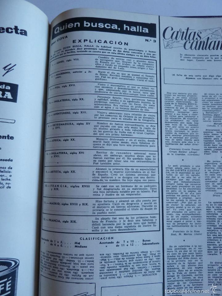 Coleccionismo de Revista Gaceta Ilustrada: REVISTA LA GACETA ILUSTRADA NºS 1 A 20 ENCUADERNADAS EN 1 TOMO. OCTUBRE 1956 A FEB 1957. GRAN FORMAT - Foto 34 - 60804739