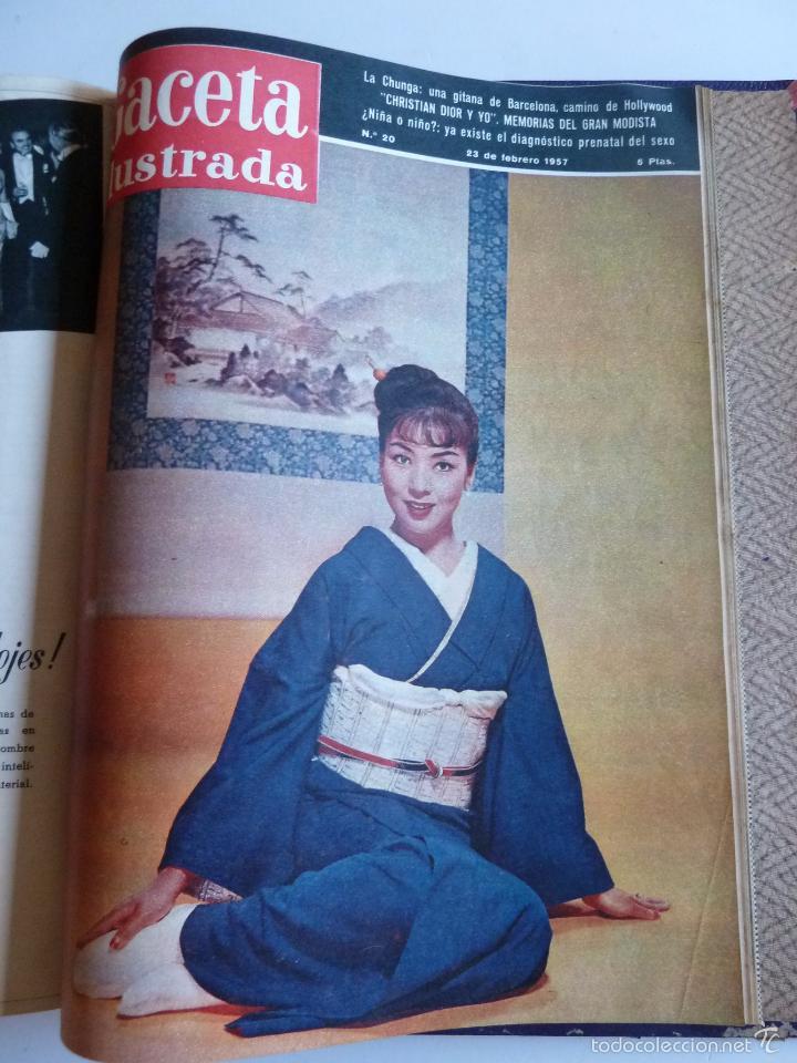 Coleccionismo de Revista Gaceta Ilustrada: REVISTA LA GACETA ILUSTRADA NºS 1 A 20 ENCUADERNADAS EN 1 TOMO. OCTUBRE 1956 A FEB 1957. GRAN FORMAT - Foto 35 - 60804739