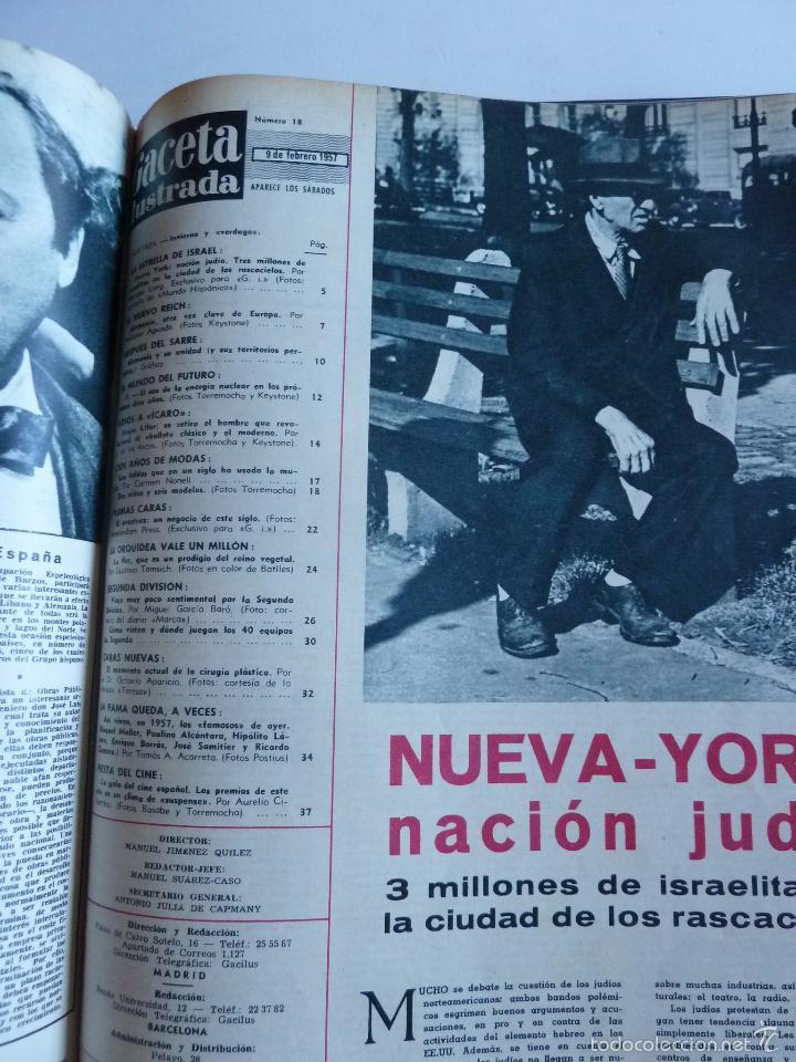 Coleccionismo de Revista Gaceta Ilustrada: REVISTA LA GACETA ILUSTRADA NºS 1 A 20 ENCUADERNADAS EN 1 TOMO. OCTUBRE 1956 A FEB 1957. GRAN FORMAT - Foto 38 - 60804739