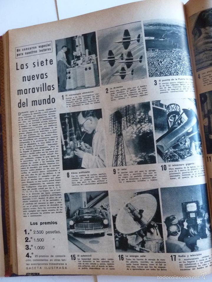 Coleccionismo de Revista Gaceta Ilustrada: REVISTA LA GACETA ILUSTRADA NºS 1 A 20 ENCUADERNADAS EN 1 TOMO. OCTUBRE 1956 A FEB 1957. GRAN FORMAT - Foto 39 - 60804739