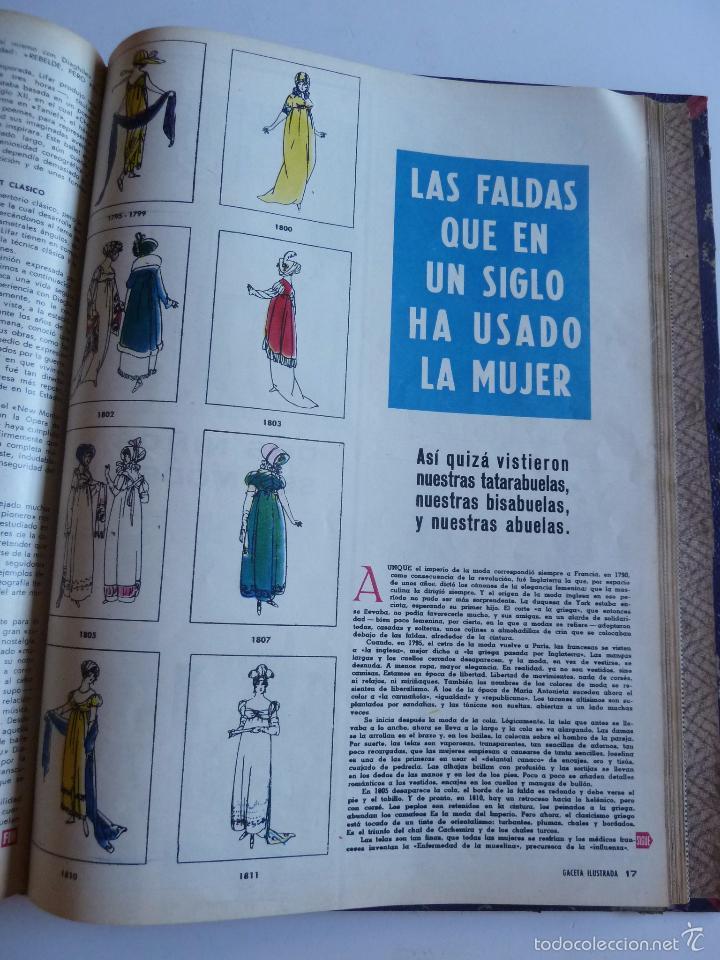 Coleccionismo de Revista Gaceta Ilustrada: REVISTA LA GACETA ILUSTRADA NºS 1 A 20 ENCUADERNADAS EN 1 TOMO. OCTUBRE 1956 A FEB 1957. GRAN FORMAT - Foto 42 - 60804739