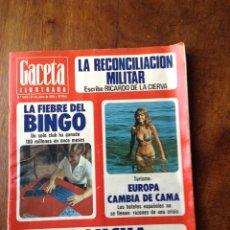 Coleccionismo de Revista Gaceta Ilustrada: GACETA ILUSTRADA N 1029, 27 DE JUNIO DE 1976. Lote 203136177