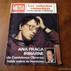 Coleccionismo de Revista Gaceta Ilustrada: GACETA ILUSTRADA 1058, DE 16 DE ENERO 1977. Lote 61477979