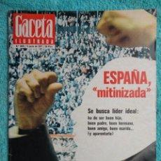 Coleccionismo de Revista Gaceta Ilustrada: REVISTA GACETA ILUSTRADA Nº 1078 AÑO 1977 ,MITINES -FELIPE DE BORBON,SOLDADO -PRESOS VASCOS-CARRILLO. Lote 69697401