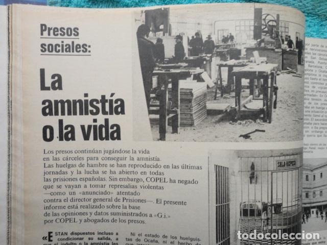 Coleccionismo de Revista Gaceta Ilustrada: REVISTA GACETA ILUSTRADA ,Nº 1080 AÑO 1.977,GANO EL CENTRO -PRESOS SOCIALES -PARO E INFLACION - Foto 5 - 69706109