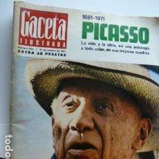 Coleccionismo de Revista Gaceta Ilustrada: PICASSO PORTADA GACETA ILUSTRADA DEDICADA A PICASSO 31 OCTUBRE 1971. Lote 70510893