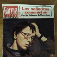 Collectionnisme de Magazine Gaceta Ilustrada: REVISTA GACETA ILUSTRADA NUM. 1058 16 DE ENERO DE 1977. Lote 74046469