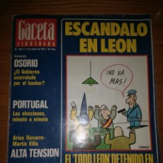 Coleccionismo de Revista Gaceta Ilustrada: REVISTA GACETA ILUSTRADA. NUM. 1021 2 DE MAYO DE 1976. Lote 74052238