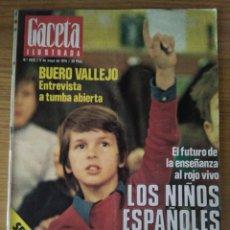 Coleccionismo de Revista Gaceta Ilustrada: REVISTA GACETA ILUSTRADA. NUM. 1022 9 DE MAYO DE 1976. Lote 74054895