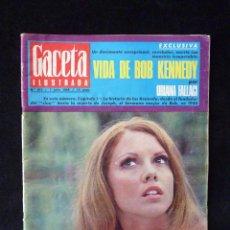 Coleccionismo de Revista Gaceta Ilustrada: REVISTA GACETA ILUSTRADA. Nº 613. JULIO 1968. VIDA DE BOB KENNEDY. JOCELYN LANE. Lote 74609191