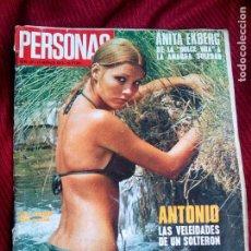 Coleccionismo de Revista Gaceta Ilustrada: ANTIGUA REVISTA PERSONAS ANITA EKBERG MARIA BONITA AÑO 1973. Lote 36772527