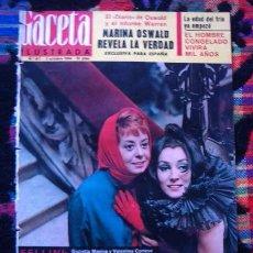 Coleccionismo de Revista Gaceta Ilustrada: GACETA ILUSTRADA 1964 / ROCIO DURCAL, URSULA ANDRESS, FEDERICO FELLINI, GIULIETTA MASINA, CADAQUES. Lote 80836223