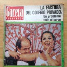 Coleccionismo de Revista Gaceta Ilustrada: GACETA ILUSTRADA Nº 838-1972 - IRVING EL CASO HUGHES - FIRESTONE - SEAT 60 - AUSTIN VICTORIA-FYNLEY. Lote 86506096