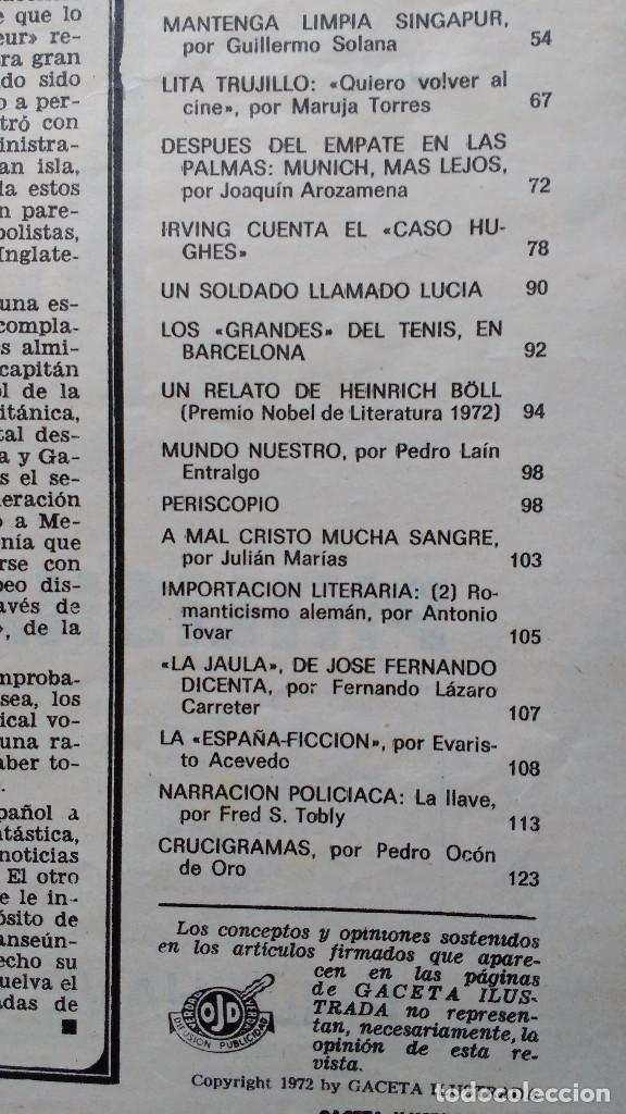 Coleccionismo de Revista Gaceta Ilustrada: GACETA ILUSTRADA Nº 838-1972 - IRVING EL CASO HUGHES - FIRESTONE - SEAT 60 - AUSTIN VICTORIA-FYNLEY - Foto 9 - 86506096