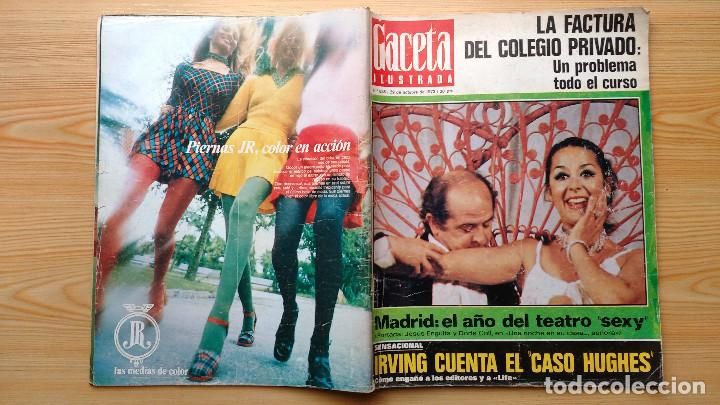 Coleccionismo de Revista Gaceta Ilustrada: GACETA ILUSTRADA Nº 838-1972 - IRVING EL CASO HUGHES - FIRESTONE - SEAT 60 - AUSTIN VICTORIA-FYNLEY - Foto 25 - 86506096