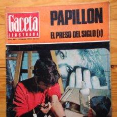 Coleccionismo de Revista Gaceta Ilustrada: GACETA ILUSTRADA Nº 697-1970 - PAPILLON,POR HENRI CHARRIERE - HEDILLA - ERICH RAJAKOWITSCH - DKW. Lote 86549460