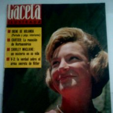 Coleccionismo de Revista Gaceta Ilustrada: GACETA ILUSTRADA N° 383 • IRENE DE HOLANDA • LOS BEATLES • V-3 ARMA SECRETA HITLER•. Lote 87586958