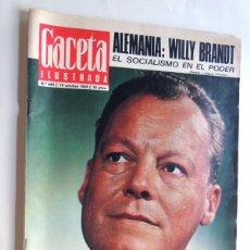 Coleccionismo de Revista Gaceta Ilustrada: GACETA ILUSTRADA Nº 680 ( 1969 ) WILLY BRANDT / ROMY SCHNEIDER / SVTLANA STALIN / INGRID BERGMAN. Lote 89588532