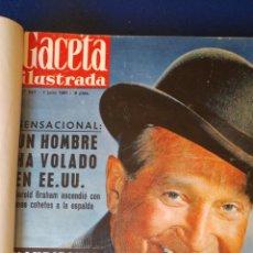 Coleccionismo de Revista Gaceta Ilustrada: TOMO DE REVISTAS GACETA ILUSTRADA.1961.. Lote 90220134