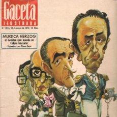 Collectionnisme de Magazine Gaceta Ilustrada: GACETA ILUSTRADA. Nº 1015. 21 MARZO 1976. VUELVE EL OPUS. (B/59). Lote 95370679