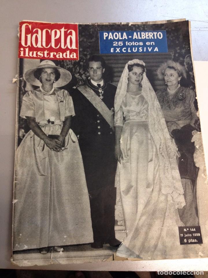 REVISTA GACETA ILUSTRADANº 144 JULIO 1959 (Coleccionismo - Revistas y Periódicos Modernos (a partir de 1.940) - Revista Gaceta Ilustrada)