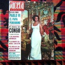 Coleccionismo de Revista Gaceta Ilustrada: REVISTA GACETA ILUSTRADA / SOPHIA LOREN, ELIZABETH TAYLOR, CLAUDIA CARDINALE, PABLO VI / 1964. Lote 95935159