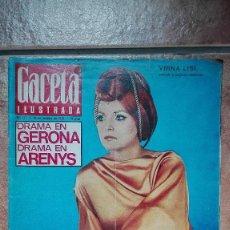Coleccionismo de Revista Gaceta Ilustrada: GACETA ILUSTRADA DRAMA EN GERONA, DRAMA EN ARENYS, TESTAMENTO DE NASSER 1970. Lote 96141279