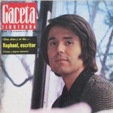 Collectionnisme de Magazine Gaceta Ilustrada: GACETA ILUSTRADA 846 1972 RAPHAEL, FUTBOL FEMENINO, PIO BAROJA, FORD, PICASSO, ROCIO JURADO, AGNETA. Lote 99932375