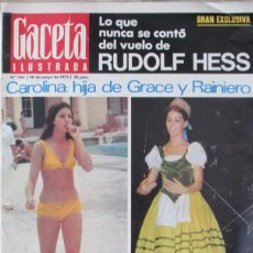 Collectionnisme de Magazine Gaceta Ilustrada: GACETA ILUSTRADA 764 1971 CAROLINA DE MONACO, LUCA DE TENA, HESS, JOHN LENON YOKO ONO.. Lote 99957479