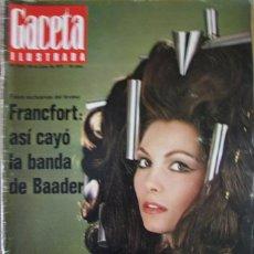 Coleccionismo de Revista Gaceta Ilustrada: GACETA ILUSTRADA 819 1972 FRANCFORT, BAADER, ROSANNA SCHIAFFINO, ANDRES GIMENO, FUENTE. Lote 100570323