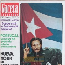 Coleccionismo de Revista Gaceta Ilustrada: GACETA ILUSTRADA 987 1975 FIDEL CASTRO, LA NUEVA CUBA, PORTUGAL, HOMENAJE A FRANCO, . Lote 101350575