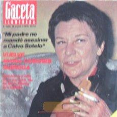 Collectionnisme de Magazine Gaceta Ilustrada: GACETA ILUSTRADA 1020 CASARES QUIROGA, REVELLO, ANA MARIA MATUTE, TRAVESTIS, MARIA DEL MAR BONET. Lote 101351447