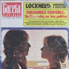 Collectionnisme de Magazine Gaceta Ilustrada: GACETA ILUSTRADA 1012 1976 LA PILDORA, EVEREST, FRANCISCO FERNANDEZ ORDOÑEZ, LOCKHEED,. Lote 101354859