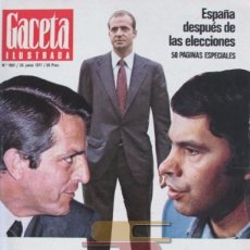 Collectionnisme de Magazine Gaceta Ilustrada: GACETA ILUSTRADA 1081 1977 ESPECIAL ESPAÑA DESPUÉS DE LAS ELECCIONES. Lote 101357175