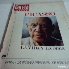 Coleccionismo de Revista Gaceta Ilustrada: VIDA Y LA OBRA DE PICASSO. LA GACETA ILUSTRADA Nº EXTRA.. Lote 103394655