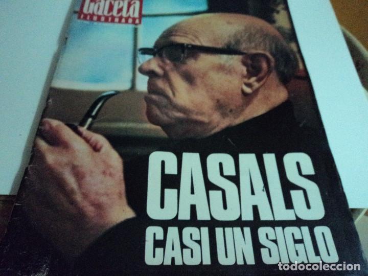 CASALS CASI UN SIGLO. 1973 BODAS ORO DE FRANCO, BLANCA ESTRADA, NASTASE, (Coleccionismo - Revistas y Periódicos Modernos (a partir de 1.940) - Revista Gaceta Ilustrada)