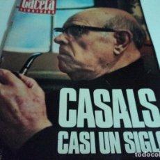 Coleccionismo de Revista Gaceta Ilustrada: CASALS CASI UN SIGLO. 1973 BODAS ORO DE FRANCO, BLANCA ESTRADA, NASTASE, . Lote 103396083