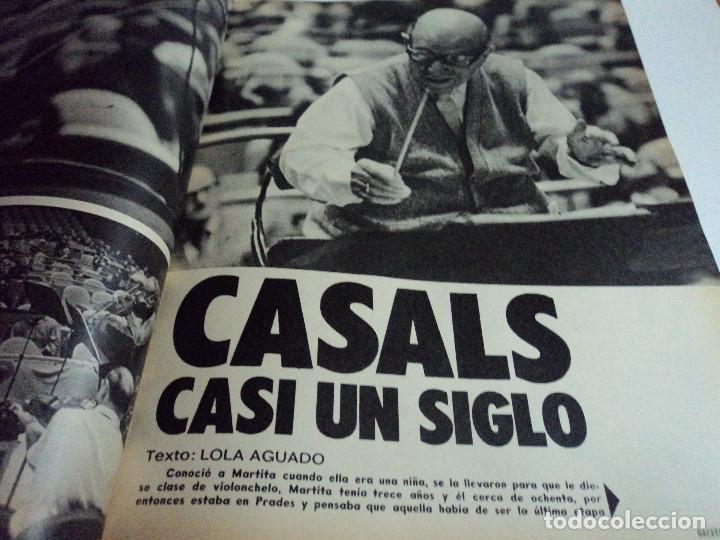 Coleccionismo de Revista Gaceta Ilustrada: CASALS CASI UN SIGLO. 1973 bodas oro de franco, blanca estrada, nastase, - Foto 2 - 103396083