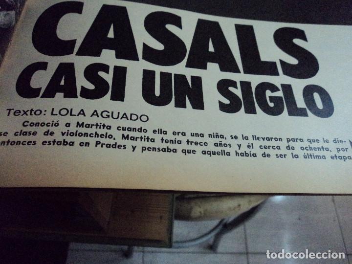Coleccionismo de Revista Gaceta Ilustrada: CASALS CASI UN SIGLO. 1973 bodas oro de franco, blanca estrada, nastase, - Foto 3 - 103396083