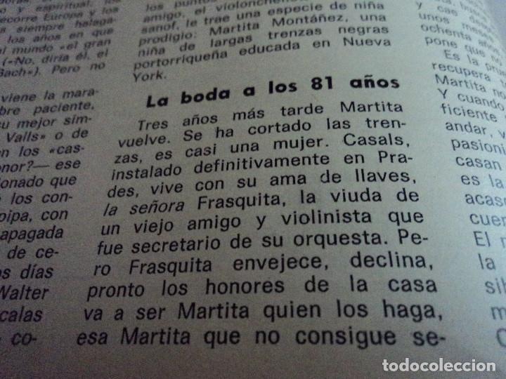 Coleccionismo de Revista Gaceta Ilustrada: CASALS CASI UN SIGLO. 1973 bodas oro de franco, blanca estrada, nastase, - Foto 4 - 103396083