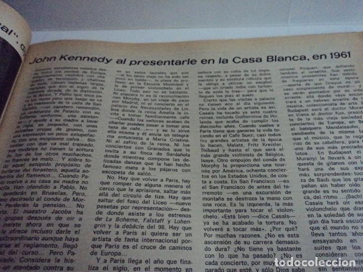 Coleccionismo de Revista Gaceta Ilustrada: CASALS CASI UN SIGLO. 1973 bodas oro de franco, blanca estrada, nastase, - Foto 6 - 103396083
